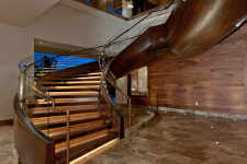 The ANdAZ Grand Staircase just completed by Pure Timber in Gig Harbor, Washington
