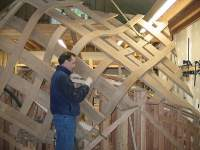 Pure Timber owner Chris Mroz working on Trellis fabrication